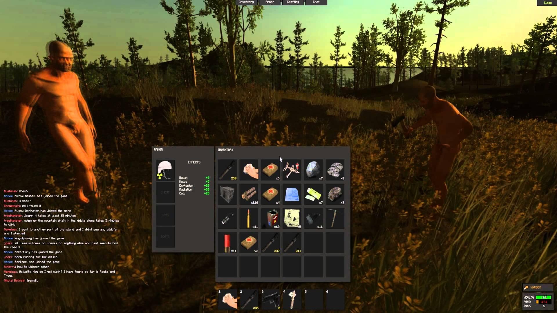 imagen del menu del jugador en rust